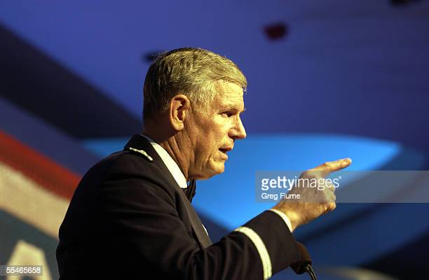 General Richard B. Myers speaks at the USO Gala on September 14, 2005 at the Hilton Washington in Washington, DC. NOTE TO USER: User expressly...