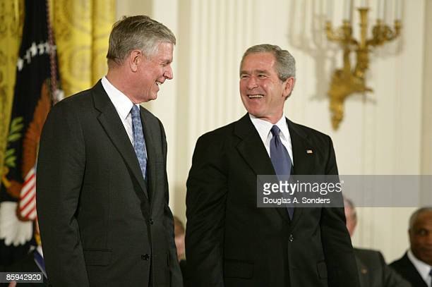 General Richard B. Myers, U.S. Air Force and President George W. Bush at the Freedom Awards Ceremony at the White House in Washington D.C. On...