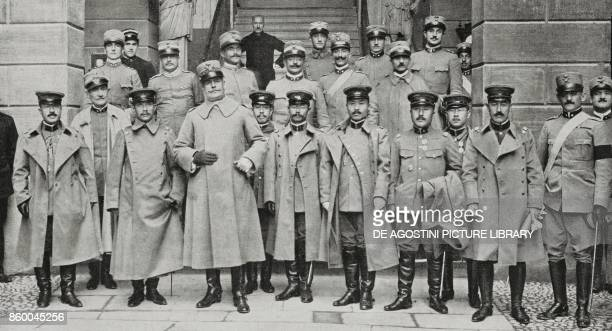General Rossi welcoming the Japanese mission to the military school in Modena Italy World War I photo by Umberto Orlandini from L'Illustrazione...