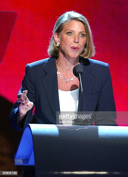 EVP general sales manager Nick at Nite Sue Danaher attends the MTV Networks UpFront at The Theater at Madison Square Garden May 05 2004 in New York...