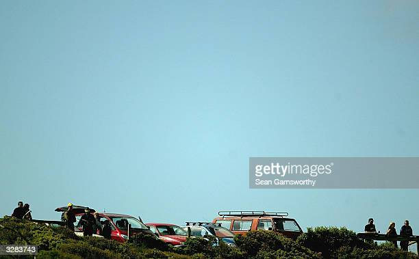 A general scene is pictured during round two of the Rip Curl Pro at Bells Beach April 8 2004 in Torquay Australia The Rip Curl Pro is round two of...