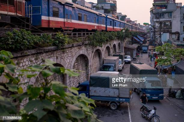 General scene near Long Bien train station on February 18 2019 in Hanoi Vietnam US President Donald Trump said on Saturday his second summit with...