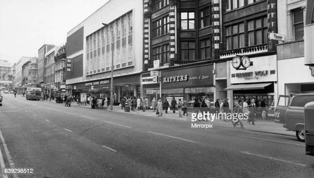 General scene of Lord Street Liverpool Merseyside 10th July 1980