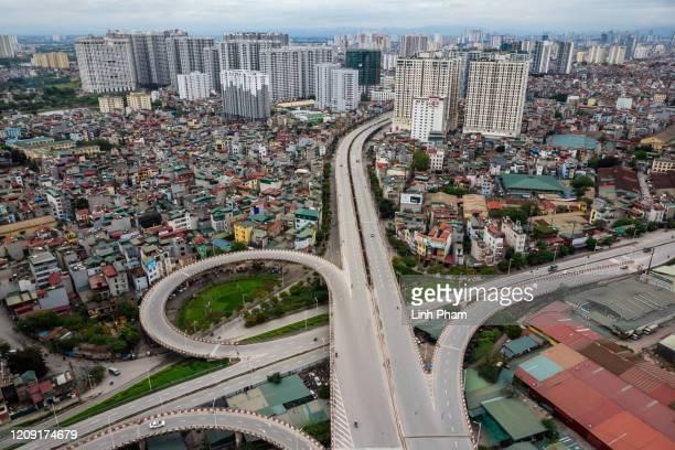 General scene of lowtraffic street in center Hanoi amid concerns of the spread of the Coronavirus on April 5 2020 in Hanoi Vietnam Vietnam starts a...