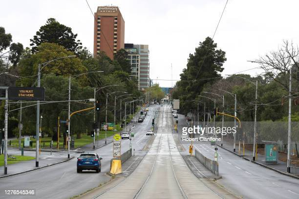 General scenes along Wellington Parade on September 25 2020 in Melbourne Australia Today marks the date that traditionally holds the AFL Grand Final...
