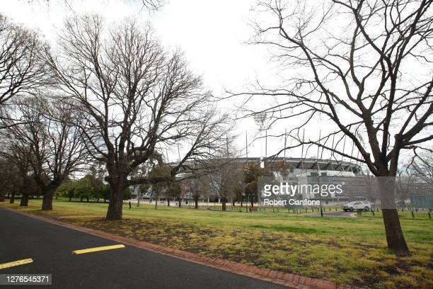 General scenes at the MCG precinct on September 25 2020 in Melbourne Australia Today marks the date that traditionally holds the AFL Grand Final...