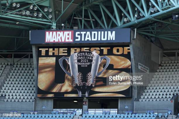 General scenes during the 2021 AFL Finals Series Launch at Marvel Stadium on August 23, 2021 in Melbourne, Australia.