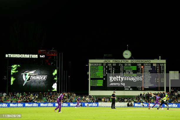 General scenes during the Big Bash League match between the Sydney Thunder and the Hobart Hurricanes at Manuka Oval on February 09 2019 in Canberra...