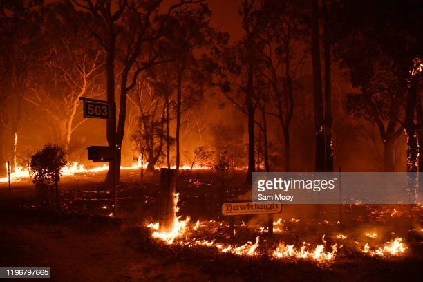General scenes near the the town of Sussex Inlet on December 31 2019 in Sydney Australia More than 1500 firefighters are currently battling more than...