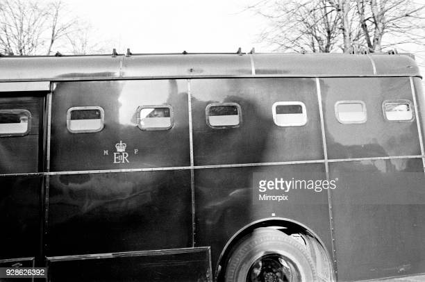 General scenes of the police escorting prisoners including The Krays from Old Bailey to Brixton Prison London 5th March 1969 To begin life sentences