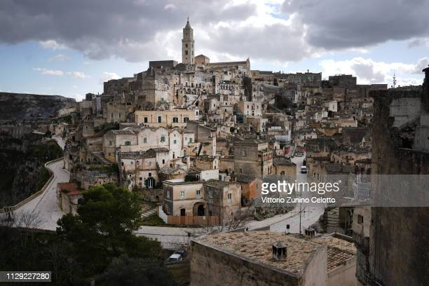 A general scenes of the 'Sassi di Matera' Matera is a city in Southern Italy which is the 2019 European Capital of Culture on February 12 2019 in...