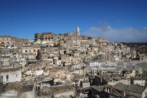 General scenes of the 'Sassi di Matera'. Matera is a city in Southern Italy which is the 2019 European Capital of Culture on February 13, 2019 in...