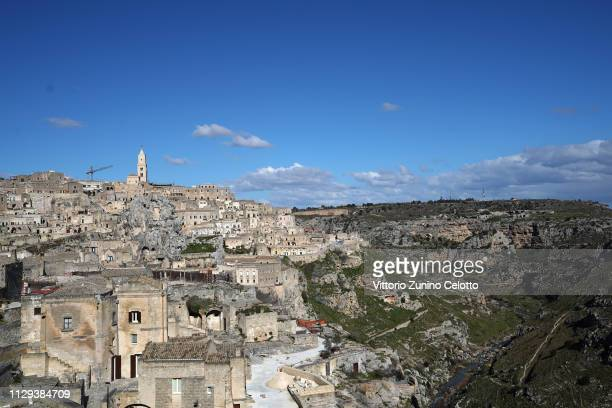 A general scenes of the 'Sassi di Matera' Matera is a city in Southern Italy which is the 2019 European Capital of Culture on February 13 2019 in...