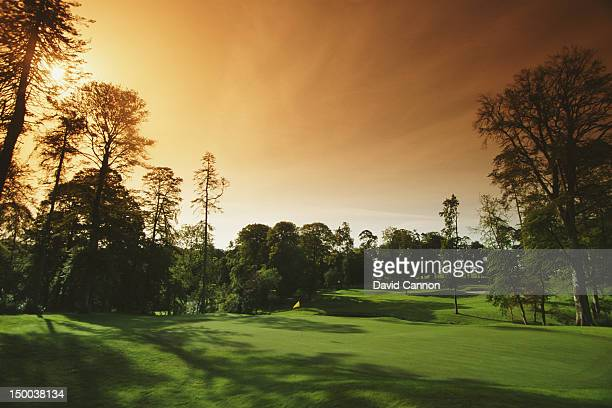 General scenic view from the 11th hole par 3 Mount Juliet Golf course on 1st August 1992 at the Mount Juliet Golf Club in Mount Juliet...