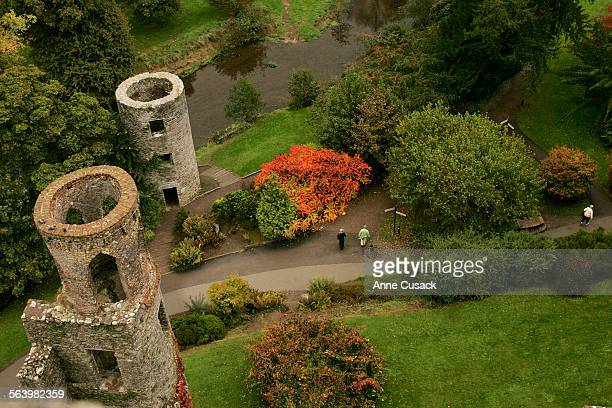 General scenics of Ireland View looking down from the top of the Blarney Castle one of Irelands most well known castles It was built nearly 600 years...