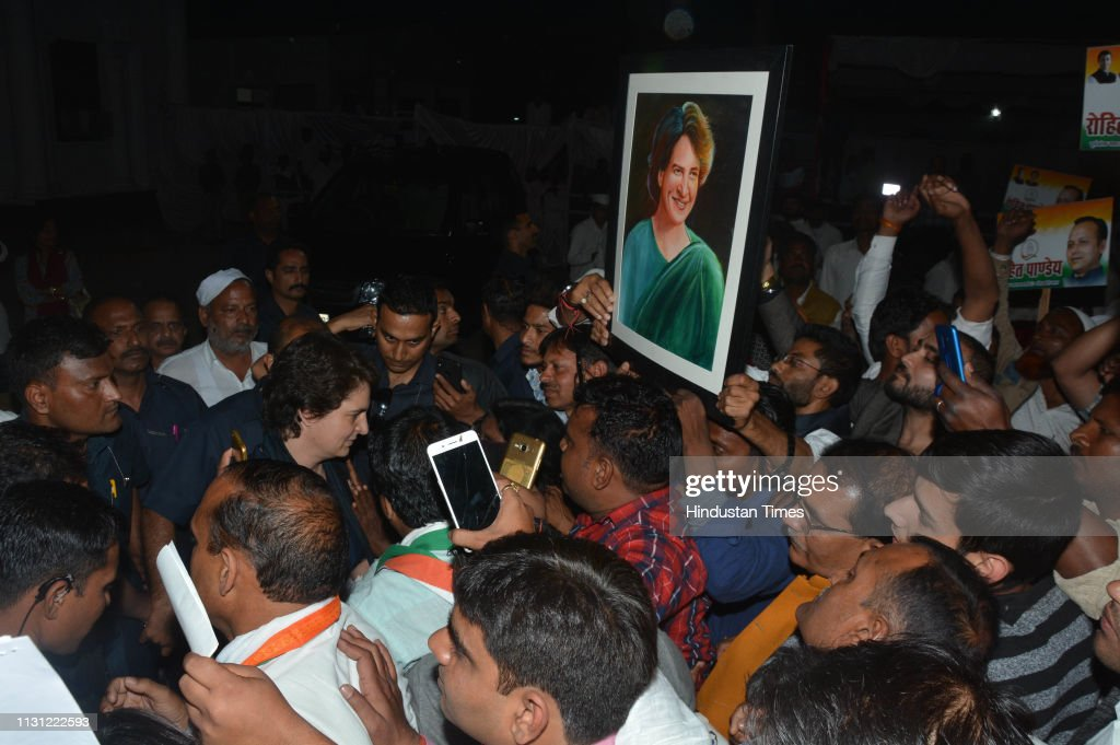 IND: AICC General Secretary Priyanka Gandhi Vadra Meets Party Workers In Lucknow