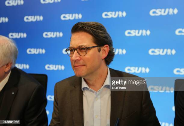 General secretary Andreas Scheuer The board of the Christian Social Union met to discuss after the end of the coalition talks with the Christian...