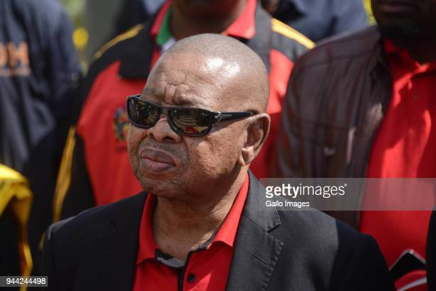 SACP general secretary Blade Nzimandeat the wreath laying ceremony during the 25 year anniversary commemorating Chris Hanis death on April 10 2018 in...