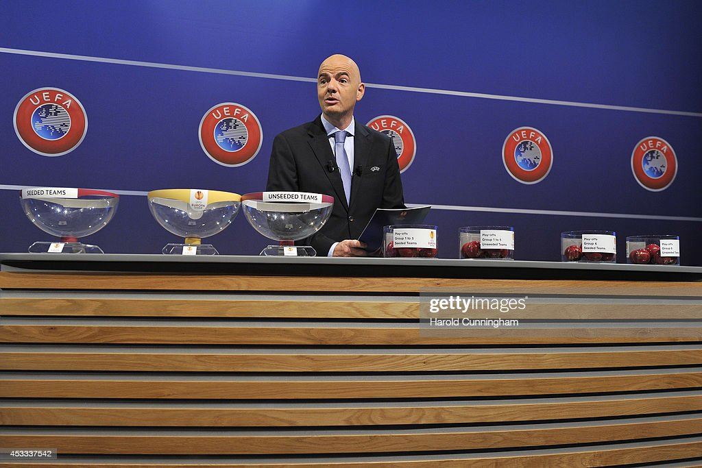 UEFA Champions League and UEFA Europa League - Play-off Round Draw : Photo d'actualité