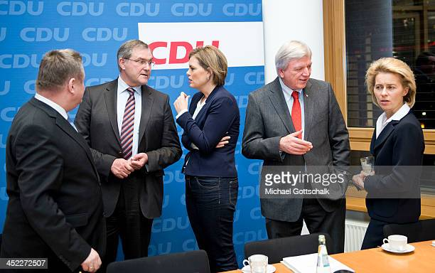 General Secretary Hermann Groehe former German Defense Minister FranzJosef Jung head of CDU CDU in German State of RhinelandPalatinate Julia...