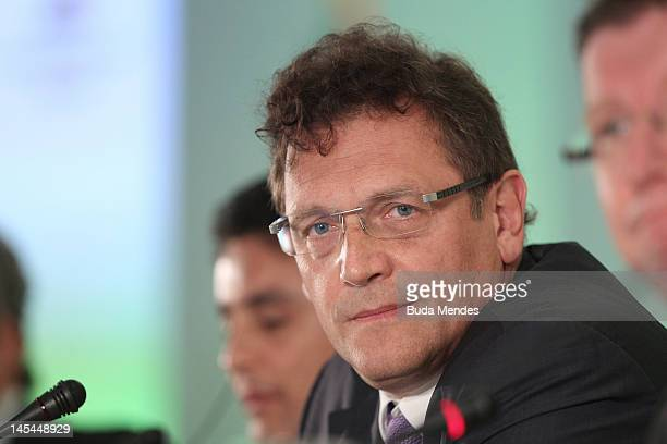 General Secretary Jerome Valcke during the announcement of host cities of Confederations Cup 2013 at Sheraton Hotel on May 30 2012 in Rio de Janeiro...