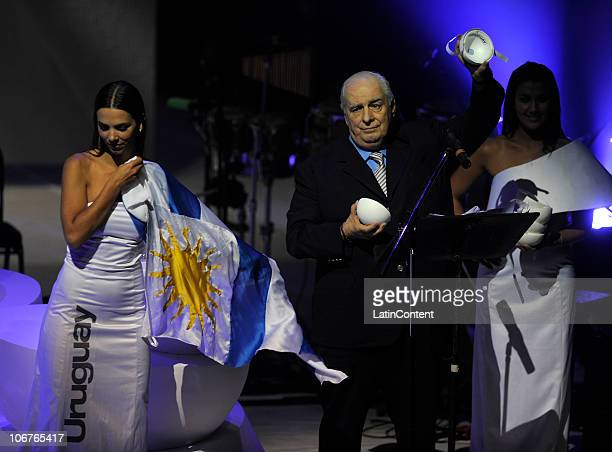 General Secretary of Argentine Football Association Eduardo Deluca during the draw of 2011 Copa America at Teatro Argentino on November 11 2010 in La...
