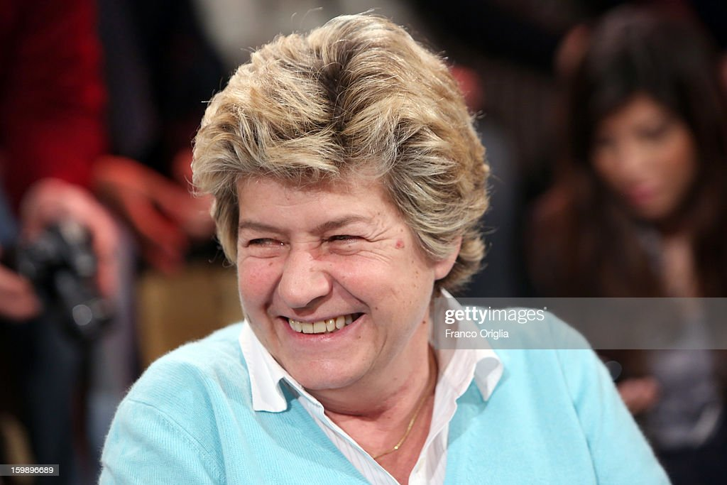 General secretary of CGIL (the biggest Italian labor union) Susanna Camusso attends Ballaro' Italian TV Show on January 22, 2013 in Rome, Italy. National Elections In Italy are scheduled for February 24.