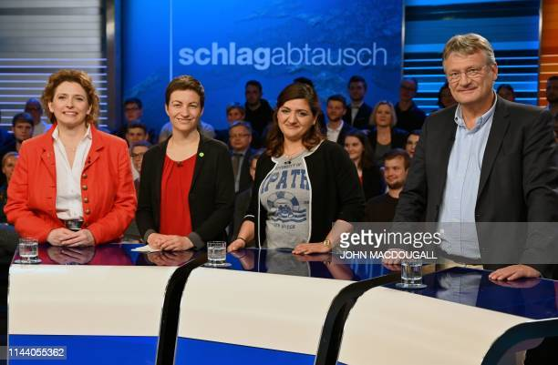 General Secretary of Free Democratic Party and top candidate for the European elections Nicola Beer, Top candidate of the European Green party Ska...