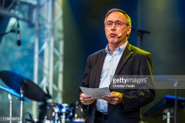 General secretary of IAAF Jean Gracia during opening ceremony for the European Athletics U20 Championships Boras 2019 on July 17 2019 in Boras Sweden