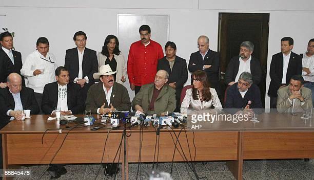General Secretary of OAS Jose Miguel Insulza Ecuadorean president Rafael Correa ousted Honduran president Manuel Zelaya General Secretary of National...