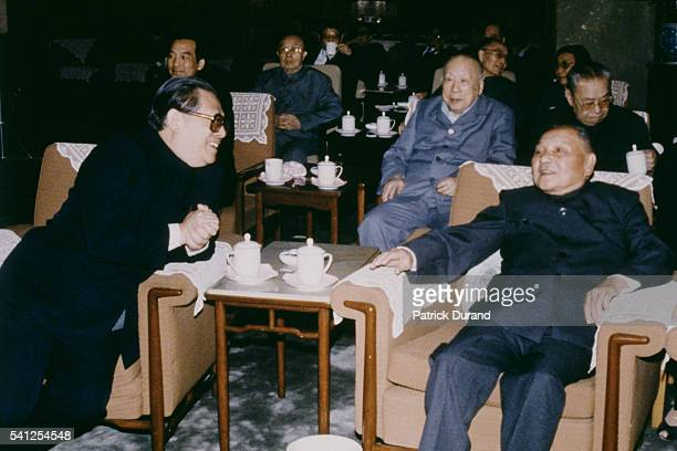 General Secretary of the Central Committee of the Communist Party of China Jiang Zemin and Chairman of the Central Military Commission Deng Xiaoping.