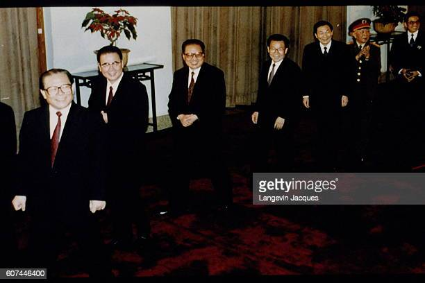 General Secretary of the Central Committee of the CPC Jiang Zemin Premier of the People's Republic of China Li Peng members of the CPC Qiao Shi Li...