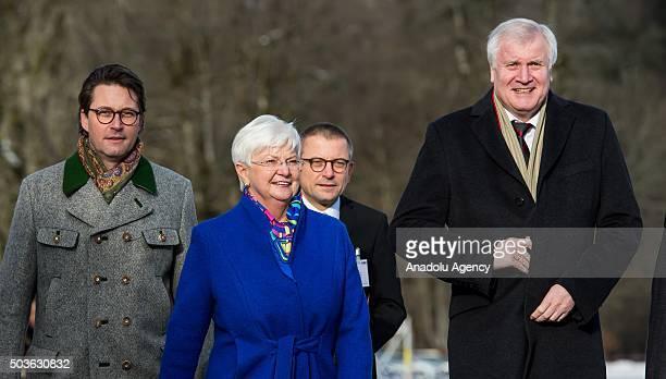 General secretary of the Christian Social Union Andreas Scheuer Gerda Hasselfeldt Christian Social Union Bundestag fraction leader and Horst Seehofer...
