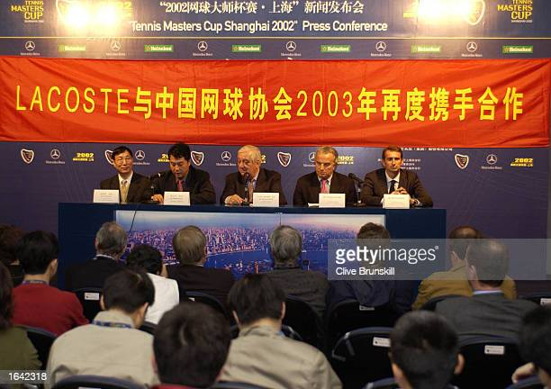 1950c8878ec65 General Secretary of the CTA Xiaoning Zhang and La Chemise Lacoste  President Bernard Lacoste announce their