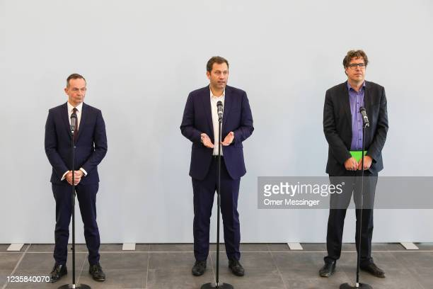 General Secretary of the German Free Democratic Party , Volker Wissing, General Secretary of the German Social Democratic Party Lars Klingbeil,...