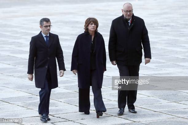 General Secretary of the Prime Minister's office Felix Bolanos Caretaker Justice Minister Dolores Delgado and the Undersecretary of the Ministry of...