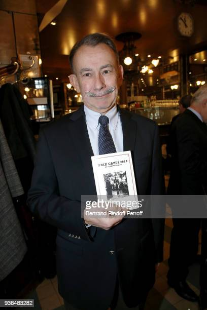 General Secretary of the Prize Jury Claude Guittard attends the 83rd Prix Cazes de la Brasserie Lipp Literary Prize at Brasserie Lipp on March 22...