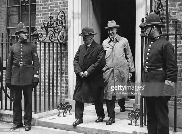 General Secretary of the TUC Walter Citrine leaving 10 Downing Street after a meeting with Prime Minister Stanley Baldwin, 12th April 1926. The TUC...