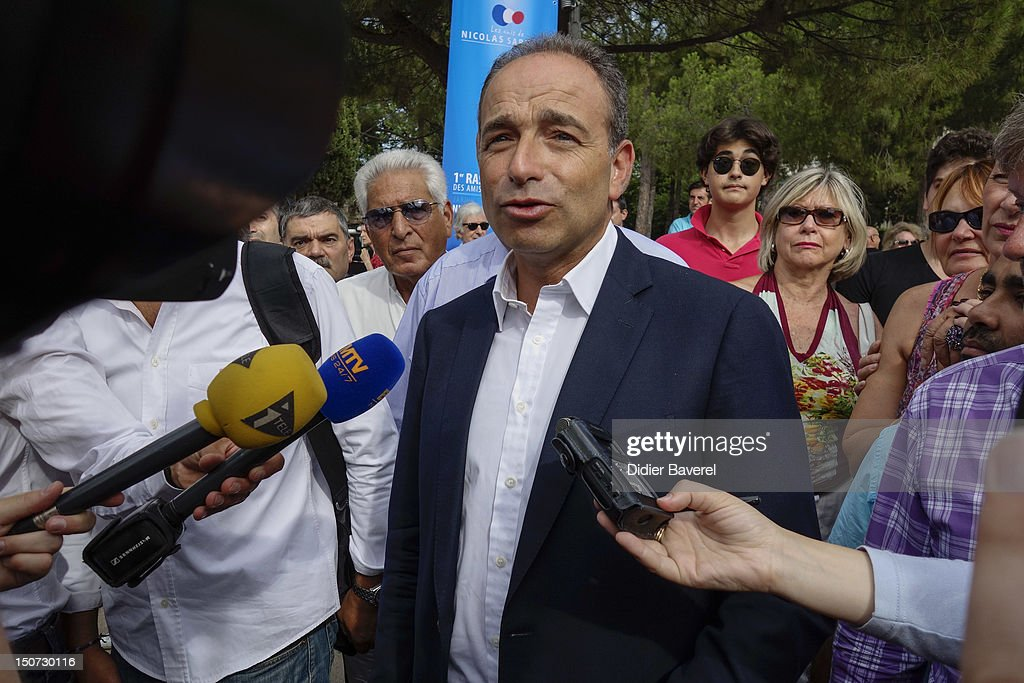 General secretary of UMP party, Jean Francois Cope arrives at second day of the first Rally of the association The friends of Nicolas Sarkozy on August 25, 2012 in Nice, France.