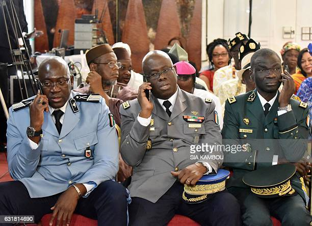 General Sekou Toure newly appointed chief of staff of the Ivorian Armed forces Kouyate Youssouf newly appointed general director of the national...
