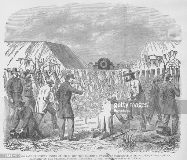 General Sherman orders that Confederate Prisoners dig up Mines Georgia December 13 1864