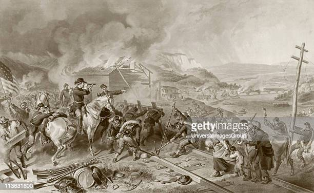 General Sherman's March to the Sea November to December during the American Civil War From a 19th century illustration