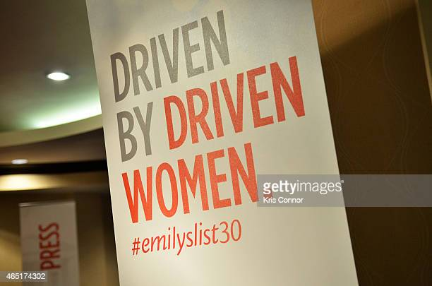 General shot of atmosphere during EMILY's List 30th Anniversary Gala at Washington Hilton on March 3 2015 in Washington DC