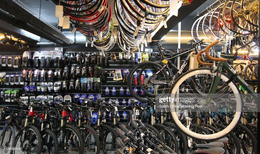 General shot of Bull Bike shop in Yau Ma Tei  04APR14 News