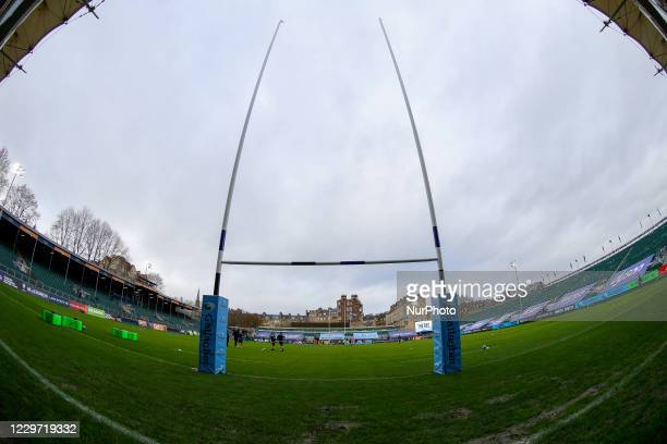General shot of The Rec prior to the Gallagher Premiership match between Bath Rugby and Newcastle Falcons at the Recreation Ground, Bath on Sunday...