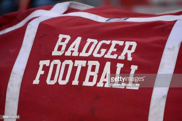 General signage for the Wisconsin Badgers before the game against the Nebraska Cornhuskers at Memorial Stadium on October 7 2017 in Lincoln Nebraska