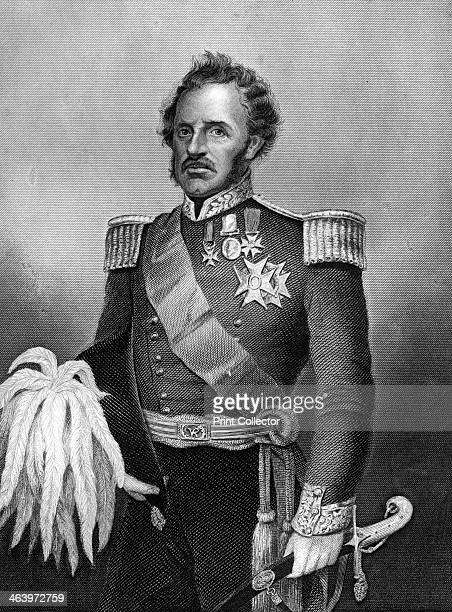 General Sir De Lacey Evans British soldier 1857 De Lacey Evans fought in the Crimean War Engraving from England's Battles by Sea and Land Volume V...