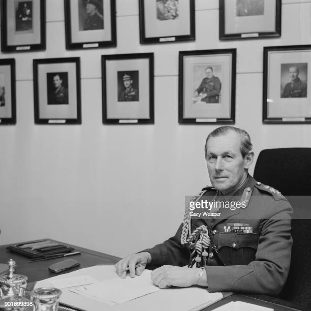 General Sir Michael Carver of the British Army takes over as Chief of the General Staff at the Ministry of Defence in London 8th April 1971