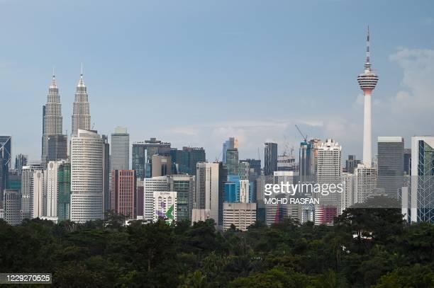 General skyline view of Malaysias capital Kuala Lumpur on October 25, 2020.