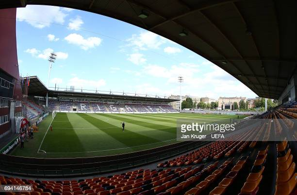 A general stadium view ahead of the FIFA 2018 World Cup Qualifier between Latvia and Portugal at Skonto Stadium on June 9 2017 in Riga Latvia